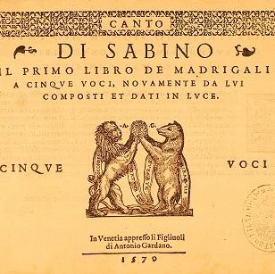 Madrigali di Sabino
